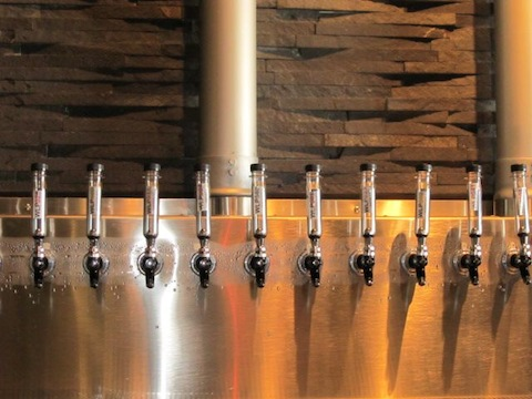 """The """"test tube"""" tap handles."""