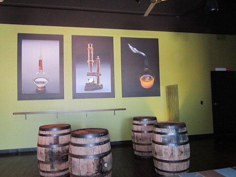 Part of the tasting room.