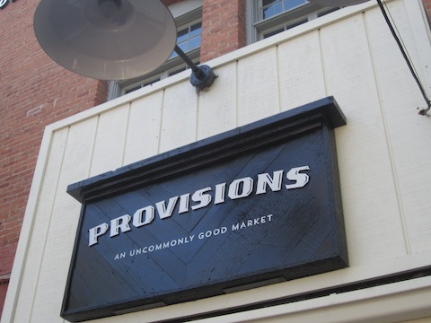 The patio entrance to the Provisions Market