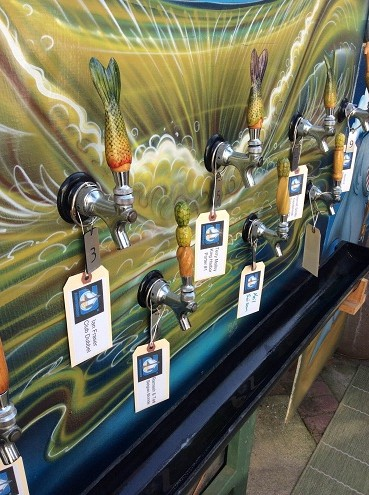 The nautical theme of their tap display.