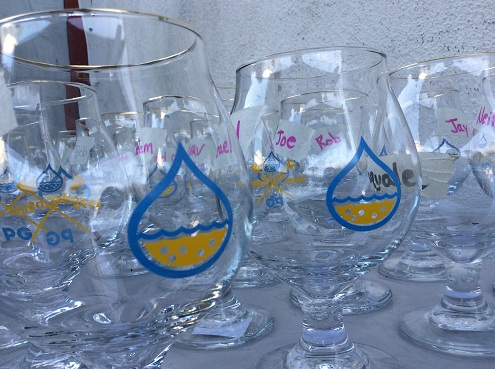 Special glasses for the event.