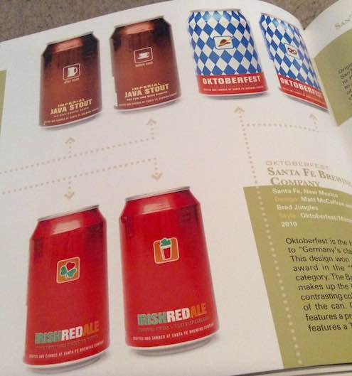 I wish the Santa Fe Brewing name was bigger and the design is more poster-like but these labels are artfully arranged while utilizing common iconic colors and images.
