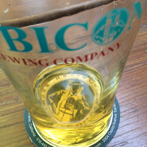 Last beer in Sacramento.  A Czech Pils at Rubicon.