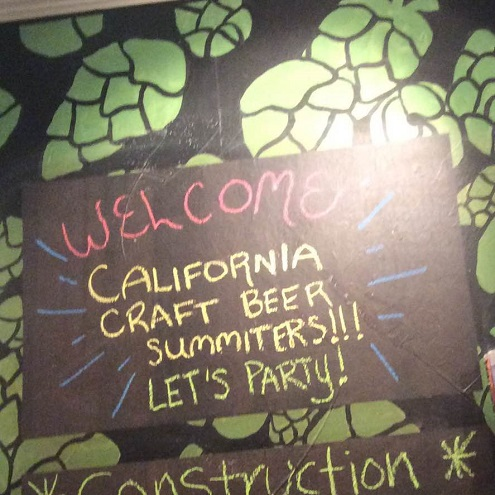 Welcome sign at Capitol Beer.