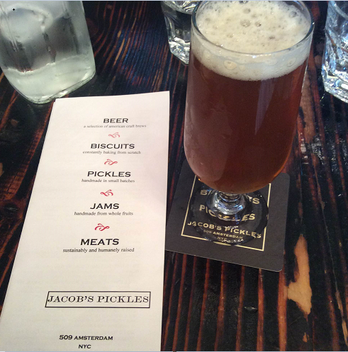 Great beer list and close to Central Park location at Jacob's Pickles.